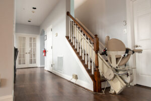 interior of assisted living home with stair lift