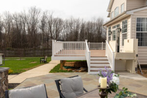 Deck with person lift