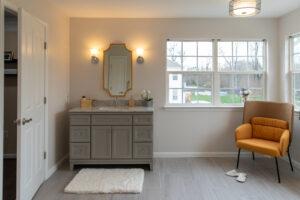 interior of individual bathroom