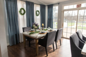 decorated table dining room